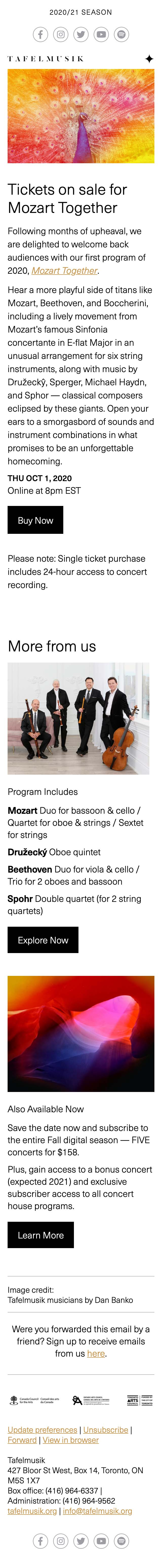 2021 Mozart Together STIX On Sale + Subs - mobile view