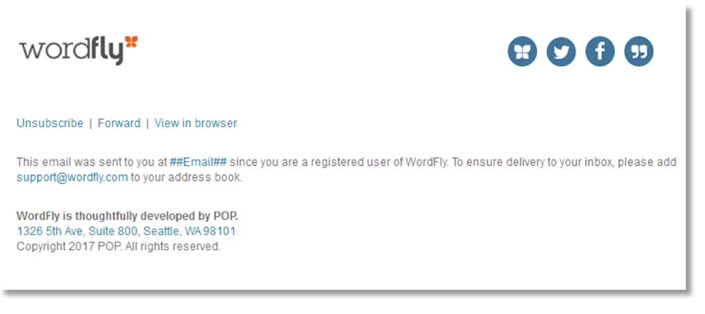 what is an unsubscribe wordfly support