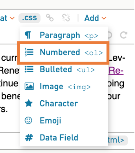 How to add list or bullet points – WordFly Support