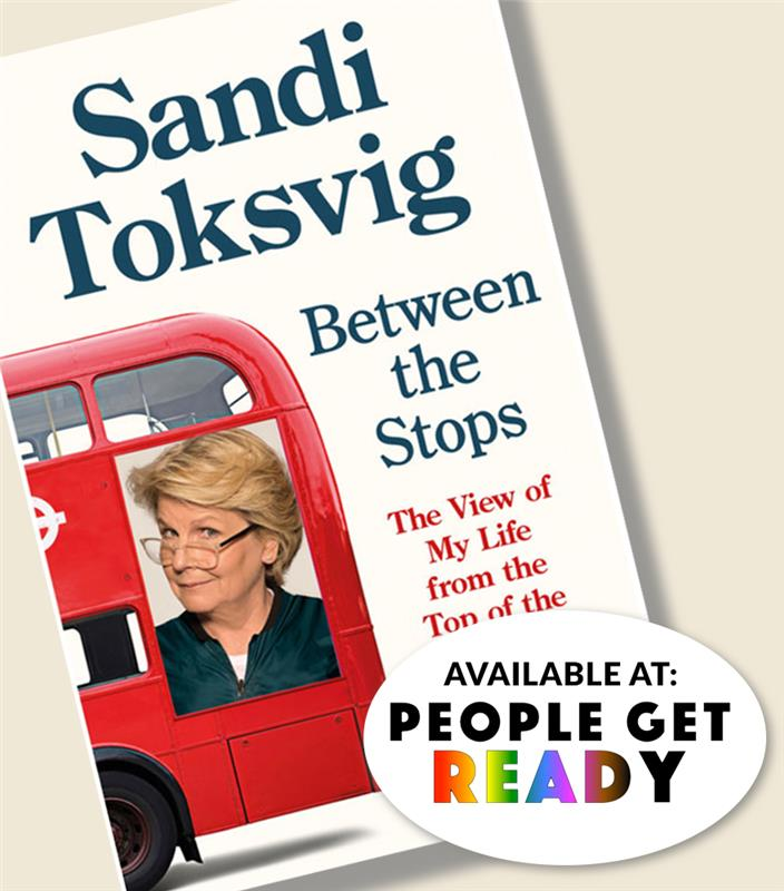book cover illustration, a white woman's photo on a bus.