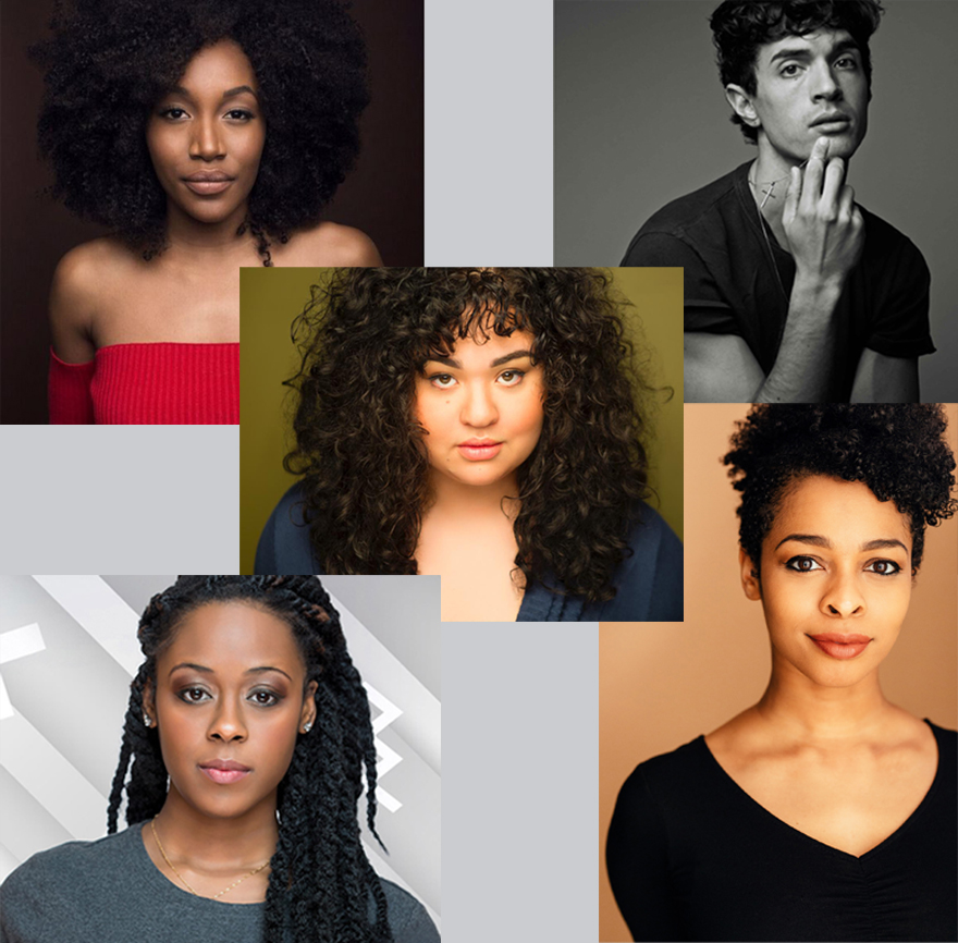 five young actors in separate photos