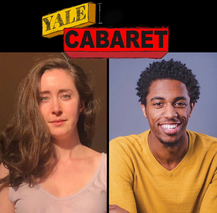 Yale Cabaret, two posed photos, looking into the camera
